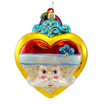 Christopher Radko Smiles From The Heart Glass Ornament