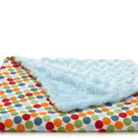 One Kings Lane - Gifts for Baby - Playful Dot Baby Blanket, Blue
