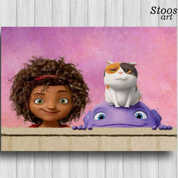 friends poster boov party alien decor nursery wall art dreamworks home