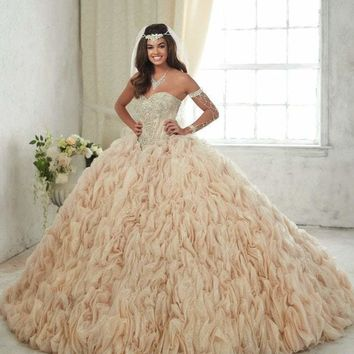 Quinceanera Collection - 26846 Strapless Sweetheart Ruffled Gown