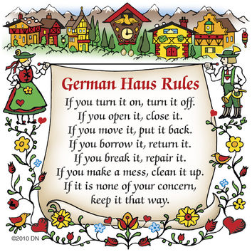 German Kitchen Magnet Tile (German House Rules)