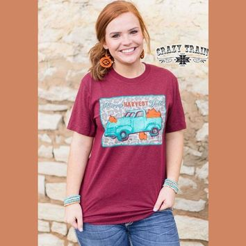 Happy Harvest Y'all Graphic Tee By Crazy Train