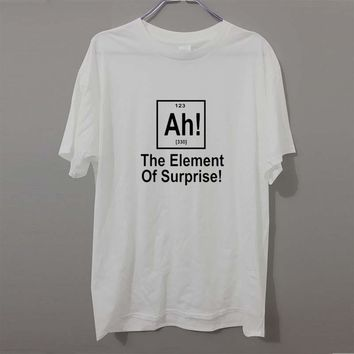 New Brand Element Of Surprise Periodic Table Geek Science T Shirt Men Funny Cotton Short Sleeve T-shirt Tshirt camiseta