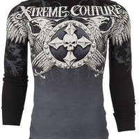 Licensed Official Xtreme Couture AFFLICTION Mens THERMAL T-Shirt INDUSTRIALIZED Biker M-3XL $58