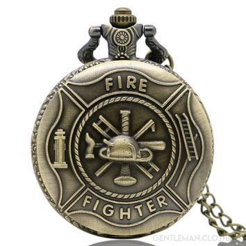 Men's Firefighter Pocket Watch