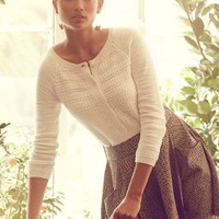 Stitched Stripe Cardigan by Moth Ivory