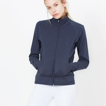 LE3NO PREMIUM Womens Lightweight Long Sleeve Active Cadet Collar Jacket