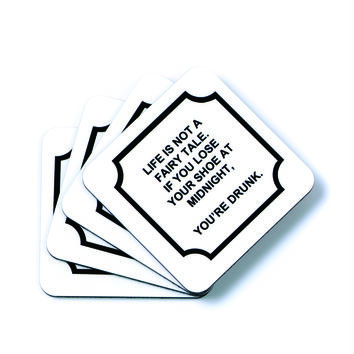Toss Quote Coaster Set-Fairy Tale