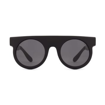 Komono - Hippolyte Metal Series Black Sunglasses / Polycarbonate Solid Smoke Lenses