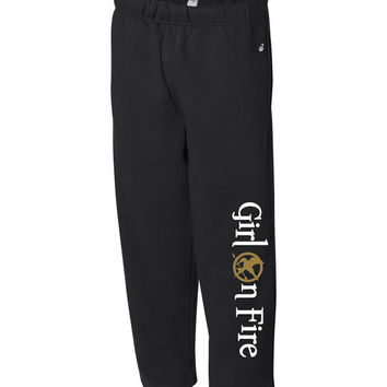Girl on Fire Sweatpants (Hunger Games)