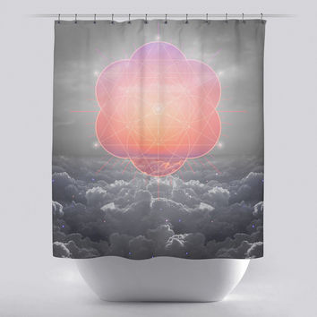 Unique Shower Curtain - Morning Star Geometric by Soaring Anchor Designs