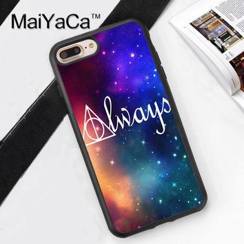 Always Harry Potter Printed Soft Rubber Mobile Phone Cases For iPhone 6 6S Plus 7 7 Plus 5 5S 5C SE 4 4S Cover Skin Shell
