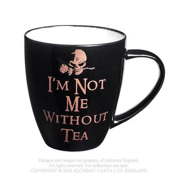 Alchemy Gothic Not Me Without Tea Mug Skull w/ Rose