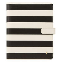 Classic Planner Love Simulated Leather Striped Binder