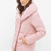 LOVE 21 Zip-Up Puffer Jacket Pink