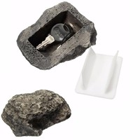 Durable Quality  Key Box Rock Hidden Hide In Stone Security Safe Storage Hiding Outdoor Garden Fake Rock