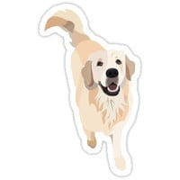 'Golden Retriever Doggo' Sticker by gumidomino