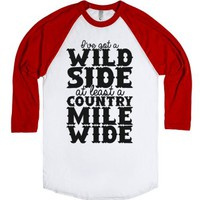 Wild Side-Unisex White/Red T-Shirt