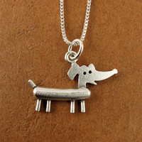 Tiny dachshund necklace