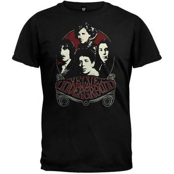 DCCKU3R Velvet Underground - Black And Red Group Soft T-Shirt