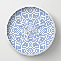 Helena Sky Wall Clock by Lisa Argyropoulos