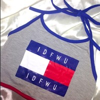 SWEET LORD O'MIGHTY! IDFWU IDFWU HALTER IN GREY
