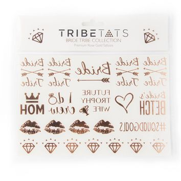 Bride Tribe Bachelorette Collection   Rose Gold Variety Set