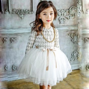 Velvet Lace Princess Dress 3-7yrs