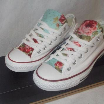 DCK7YE Floral Converse Shoes