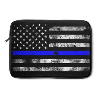 Thin Blue Line Police Laptop Sleeve