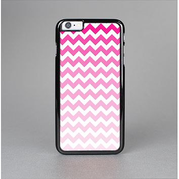 The Pink & White Ombre Chevron Pattern Skin-Sert Case for the Apple iPhone 6