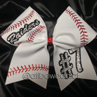 Softball Bow - Customized with your team name and number