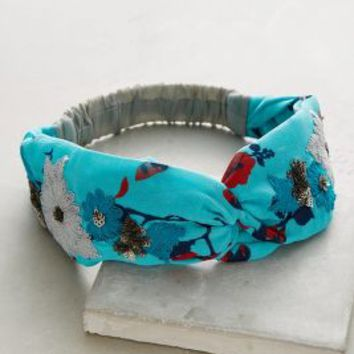 Tansley Turban Band by Anthropologie in Turquoise Size: One Size Hair