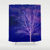 Sparkle Tree Shower Curtain by RDelean
