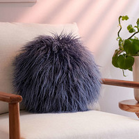 Willow Faux Fur Round Pillow - Urban Outfitters