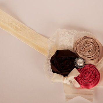 Shirley Temple boutique headband READY TO SHIP made by Mckenzie Grace Designs. Vintage, perfect for fall attire, photo's