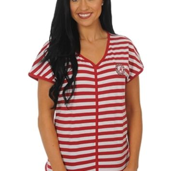 Alabama Crimson Tide Striped Dolman Tee | BAMA Dolman Tee | Alabama Crimson Tide Striped Tee