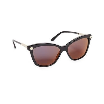 ONETOW Versace Women's Cat Eye Mirrored Sunglasses