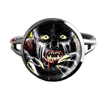 Horror Comic Book Ring - Werewolf - Geeky Jewelry
