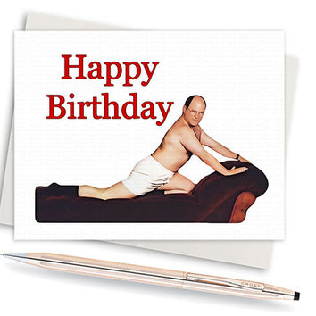 Seinfeld Card George Costanza Birthday From Inlivingcolorstudio