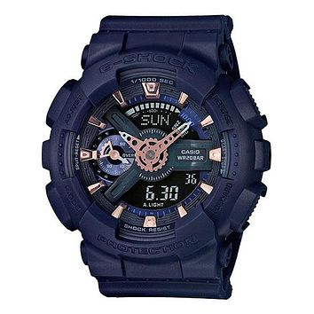 Casio Womens G-Shock S Series - Dark Blue Case & Strap - 200m - Stopwatch
