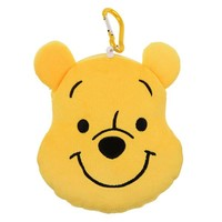 Winnie the Pooh Reel ID Card Pass Case Face Color of Pooh Disney Store Japan - VeryGoods.JP
