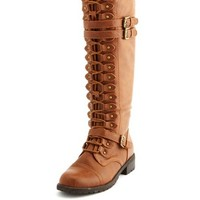 LACE-UP TRIPLE BUCKLE BOOT