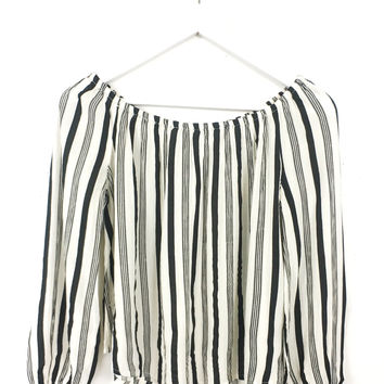 Mi Amore Stripe Blouse