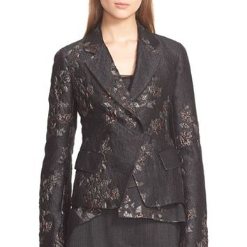 Women's Donna Karan New York Metallic Brocade Jacket,