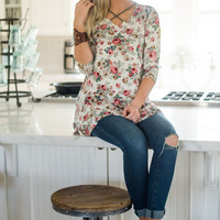 Floral Cross Cross Tunic