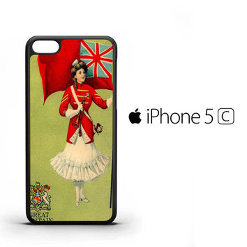 Vintage Flag Lady British X1452 iPhone 5C Case