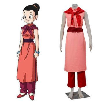 Dragon Ball Super Chichi Cosplay Costume Halloween Costume Complete Set Custom Size Women Cheongsam Clothes