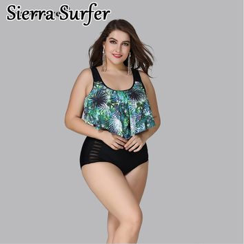 Plus Size Swimwear Large Size Big Swimsuit Woman Swimwear For Fat Women Female 4Xl 5Xl 3Xl New Fat Xl High Waist Pants Pure Plus