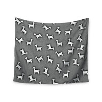 "Monika Strigel ""Llama Multi"" Gray Wall Tapestry"